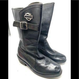 Harley Davidson 12 Inch Black Boots 1986
